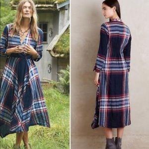Anthropologie Dresses - Anthropologie Sylvan Plaid Dress S